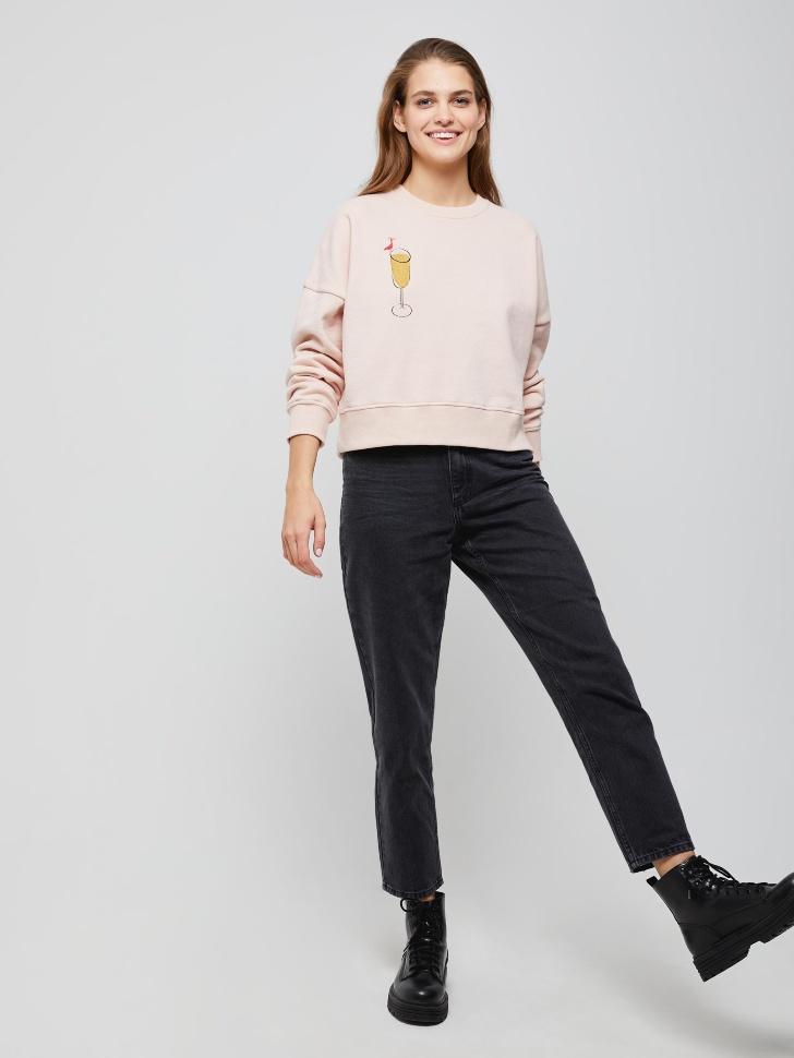 брюки джинсовые женские (черный, XXS)