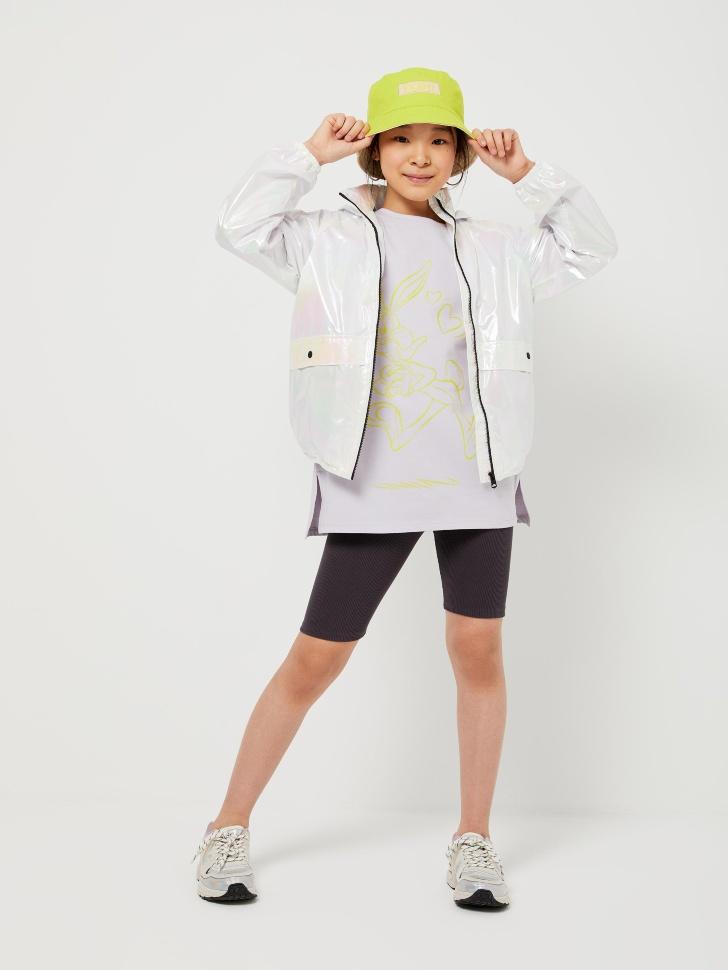 SELA Велосипедки в рубчик для девочек (серый, 152/ 12-13 YEARS)