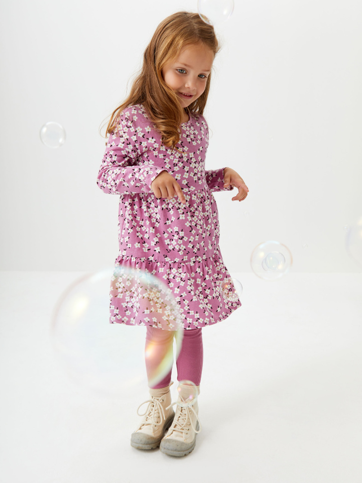 Набор из платья и леггинсов для девочек (розовый, 98/ 3-4 YEARS)