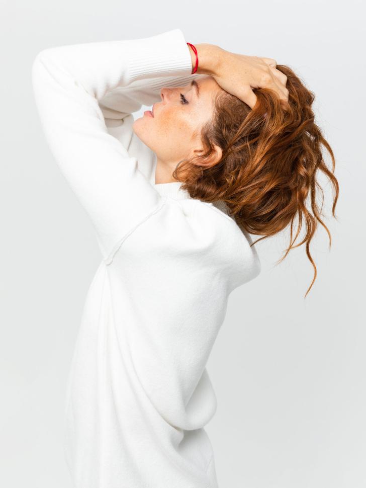 свитер женский (белый, S)