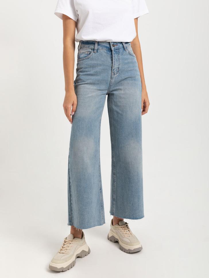 Широкие джинсы (синий, S)