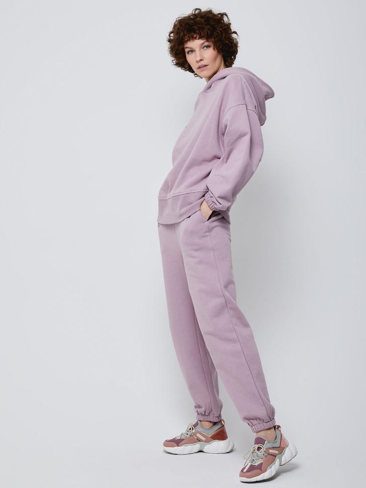 Худи оверсайз с надписью (фиолетовый, M)