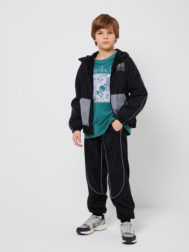 куртка для мальчиков (черный, 128/ 8-9 YEARS)