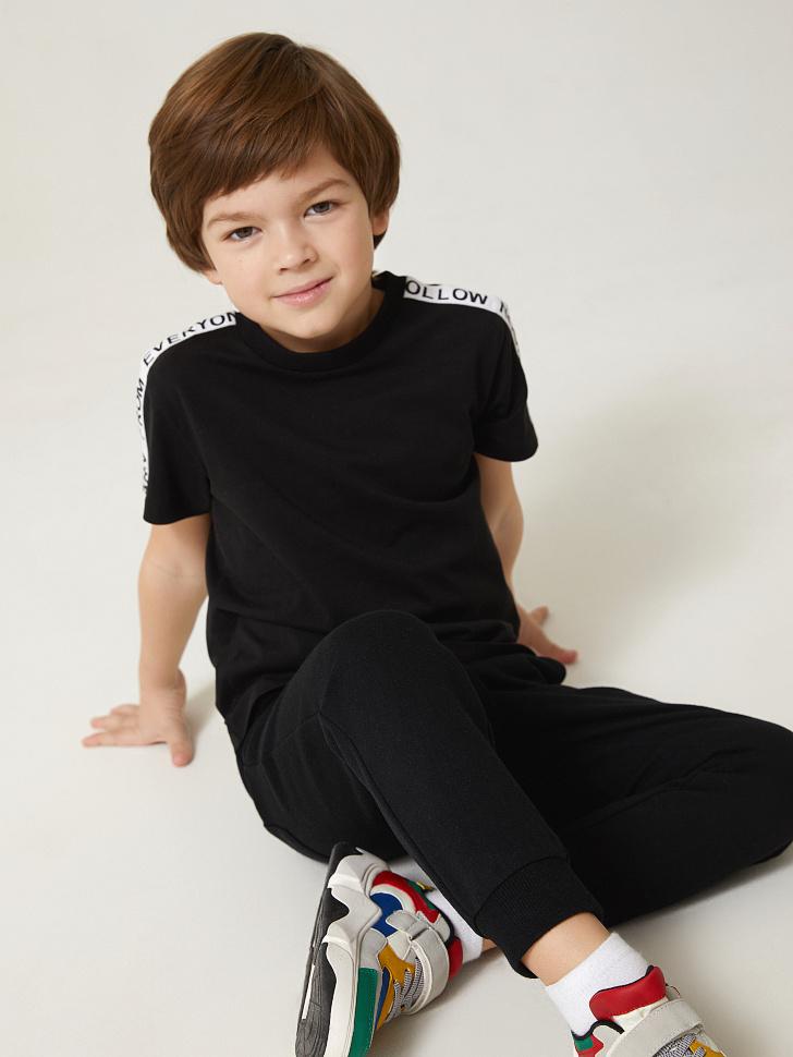 SELA трикотажные брюки для мальчиков (черный, 98)