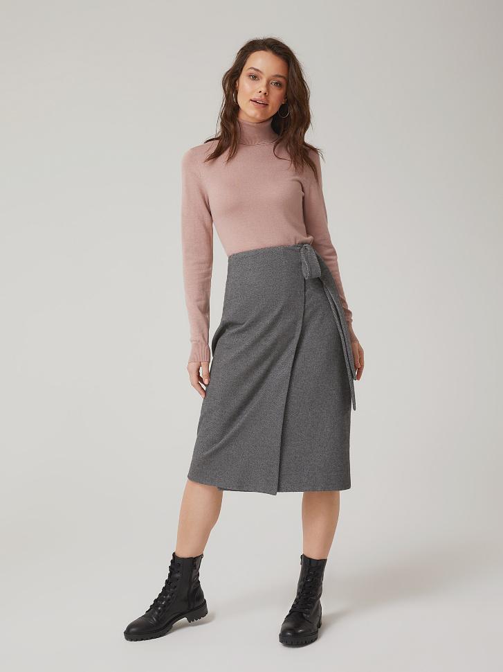 Купить со скидкой юбка на запах (серый, S)