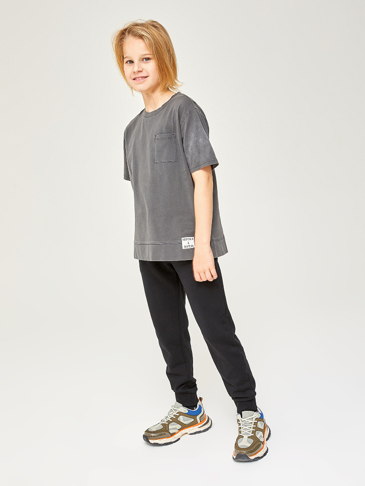Купить со скидкой трикотажные брюки для мальчиков (черный, 152)