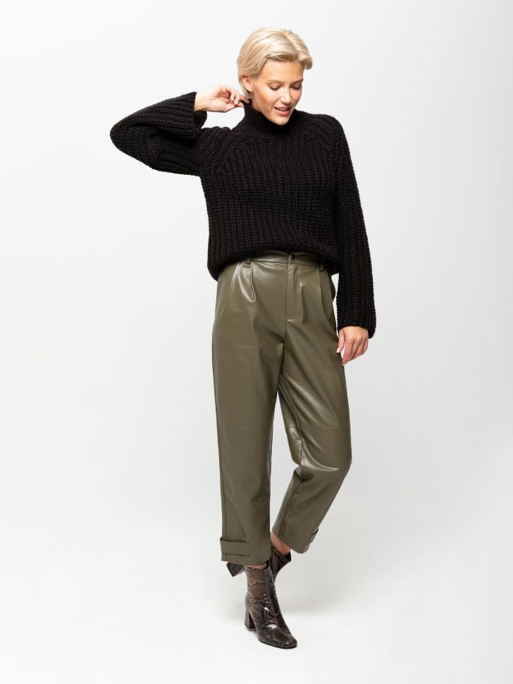свитер женский (черный, L)