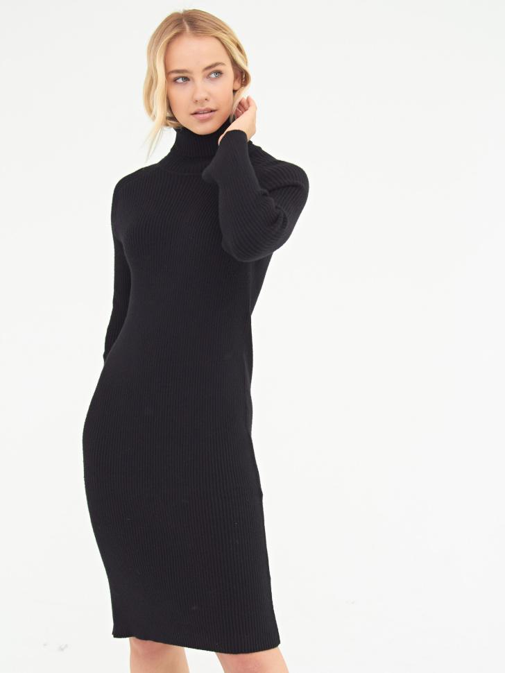 Платье (черный, XXS)