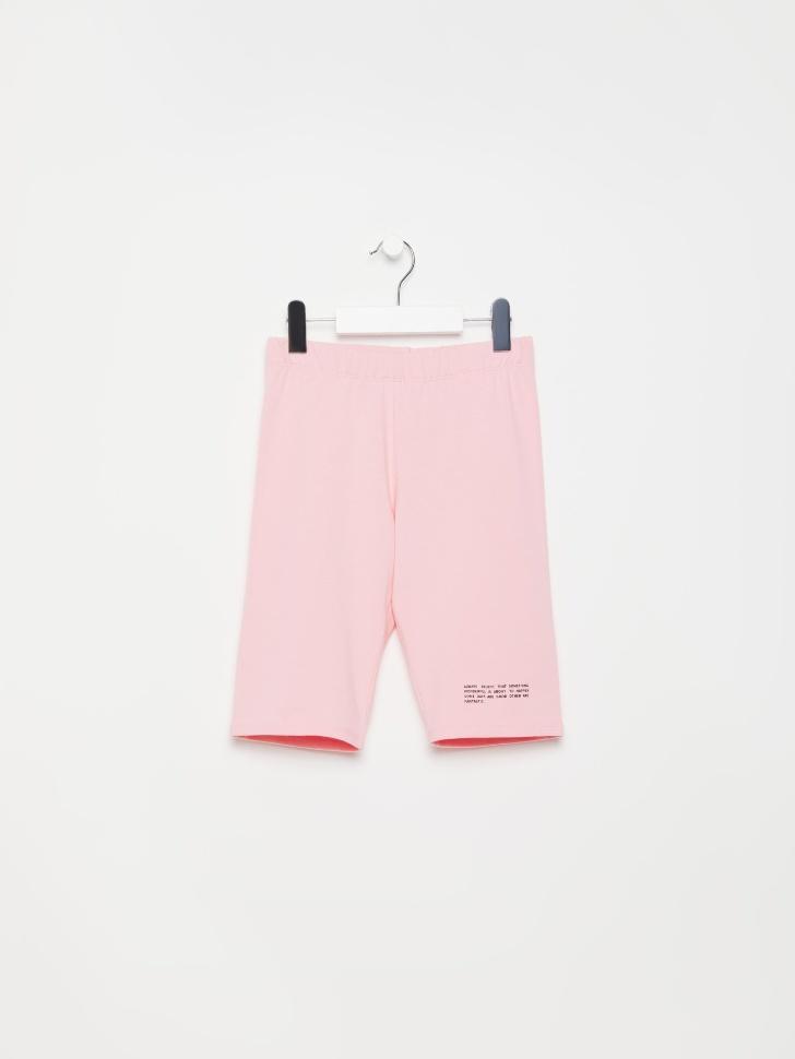 SELA Велосипедки с принтом для девочек (розовый, 146/ 11-12 YEARS)