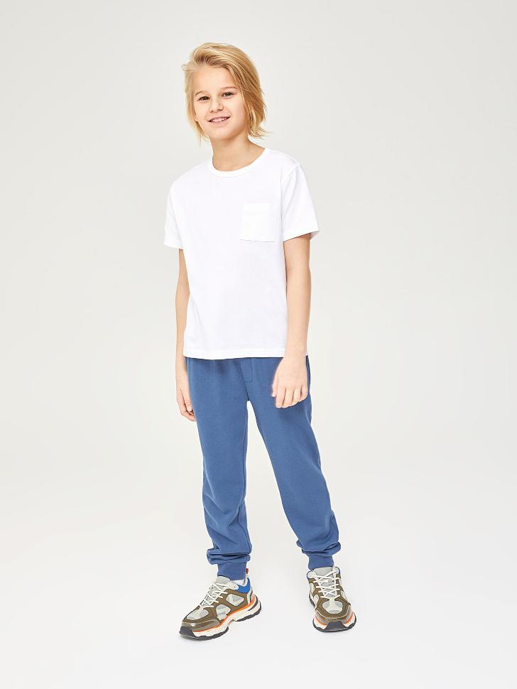Купить со скидкой трикотажные брюки для мальчиков (синий, 140)