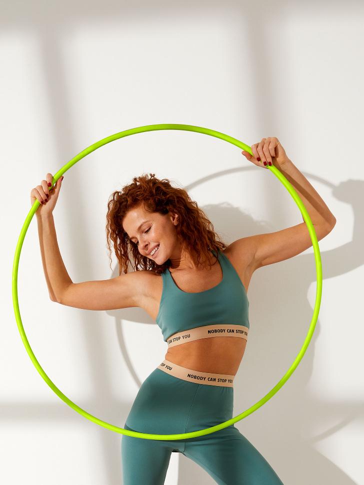 Спортивный топ для фитнеса (зеленый, L)