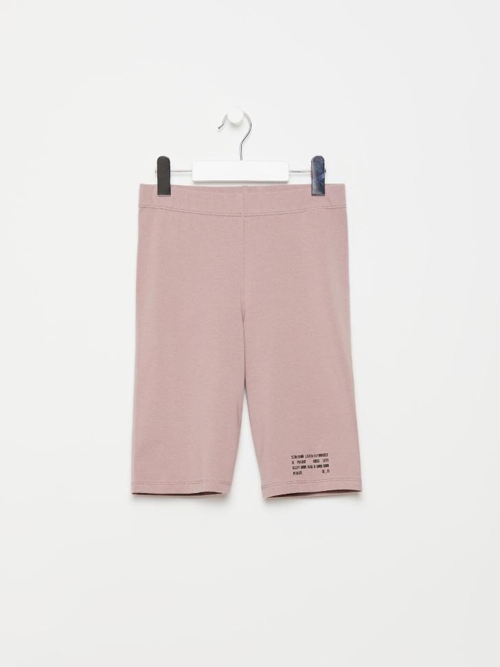 SELA Велосипедки с принтом для девочек (розовый, 140/ 10-11 YEARS)