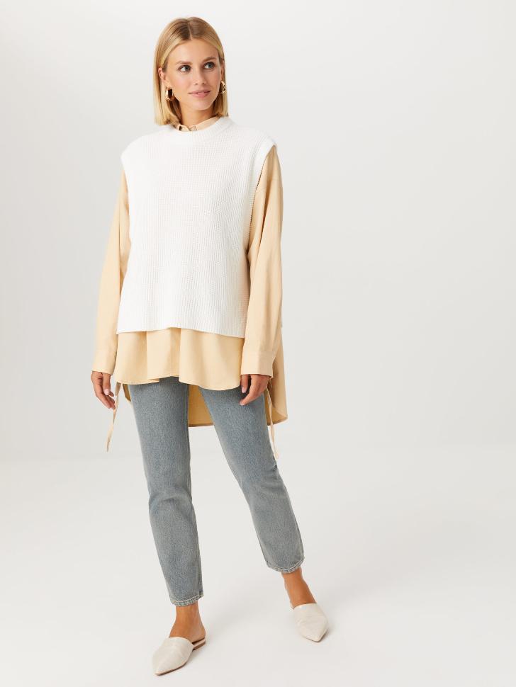 Базовые джинсы mom fit (голубой, XXS)