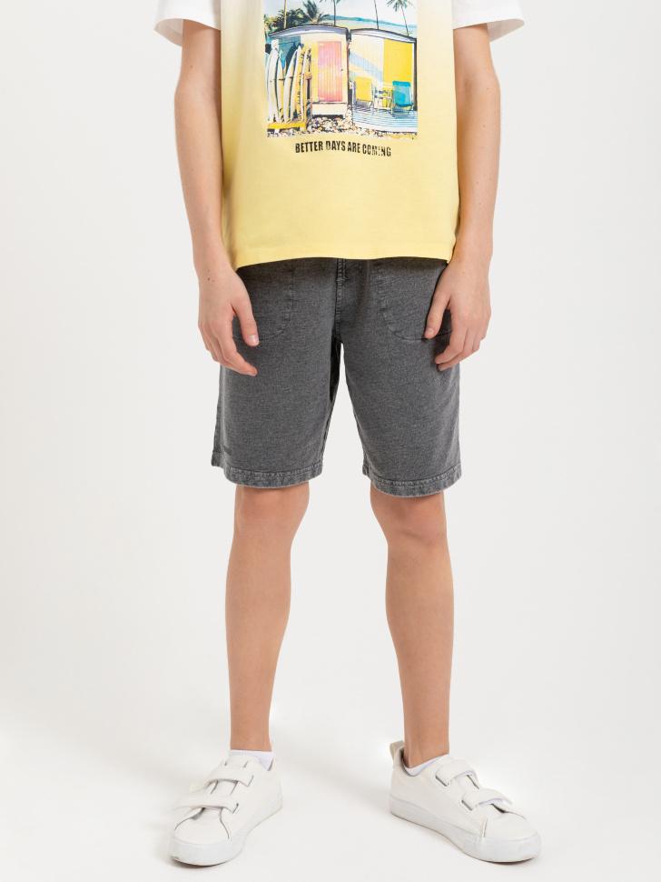 SELA шорты для мальчиков (серый, 128/ 8-9 YEARS)