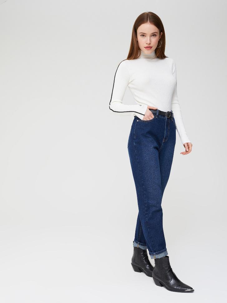 джинсы мом (голубой, L)