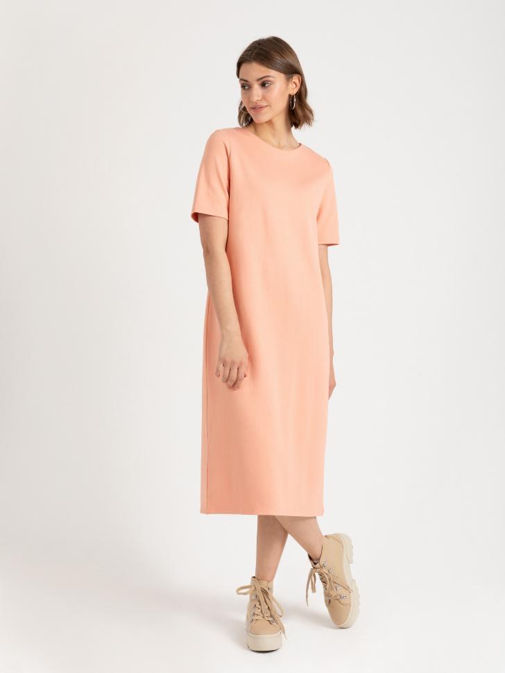 Платье-футболка (оранжевый, XS)