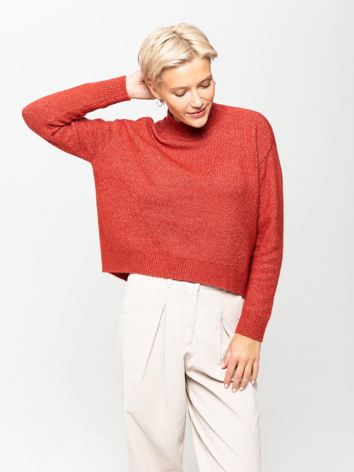 свитер женский (коричневый, XL)