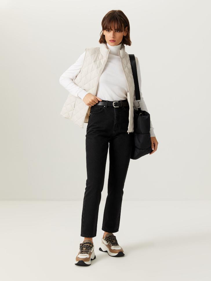 Базовые джинсы mom fit (серый, XL)