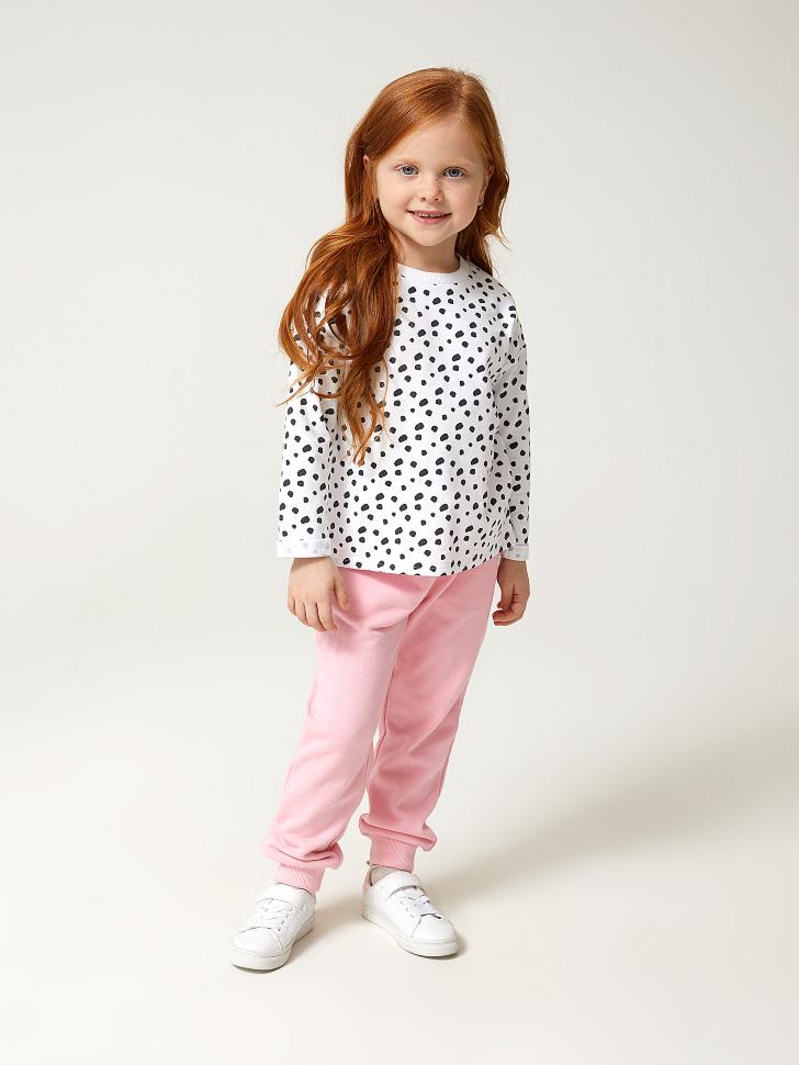 Купить со скидкой трикотажные брюки для девочек (розовый, 116)