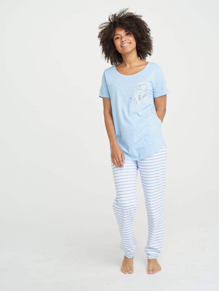 Пижама (голубой, M)