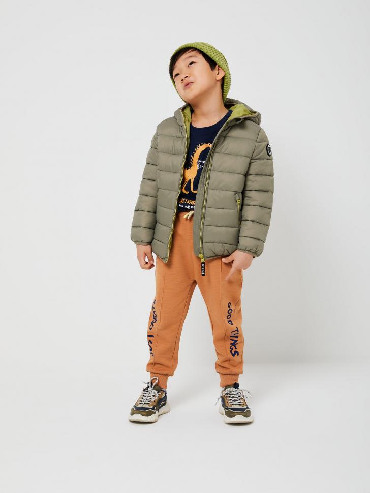 Стеганая куртка с капюшоном для мальчиков (зеленый, 116/ 6-7 YEARS)