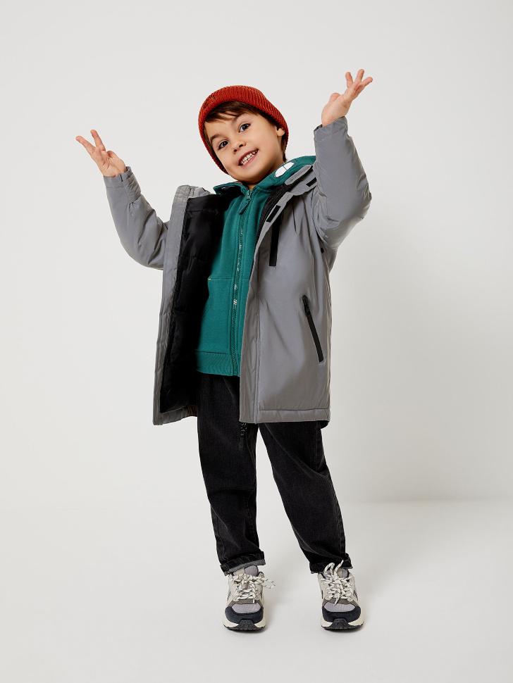 Светоотражающая куртка для мальчиков (принт, 116/ 6-7 YEARS)