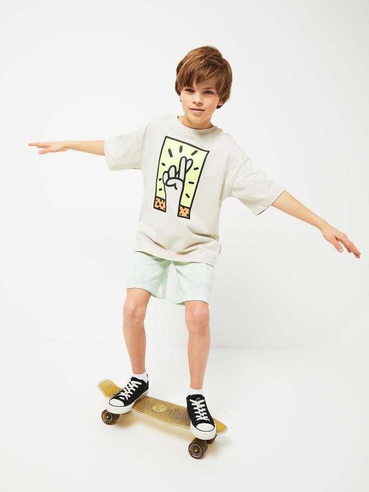 Трикотажные шорты тай-дай для мальчиков (зеленый, 146/ 11-12 YEARS)