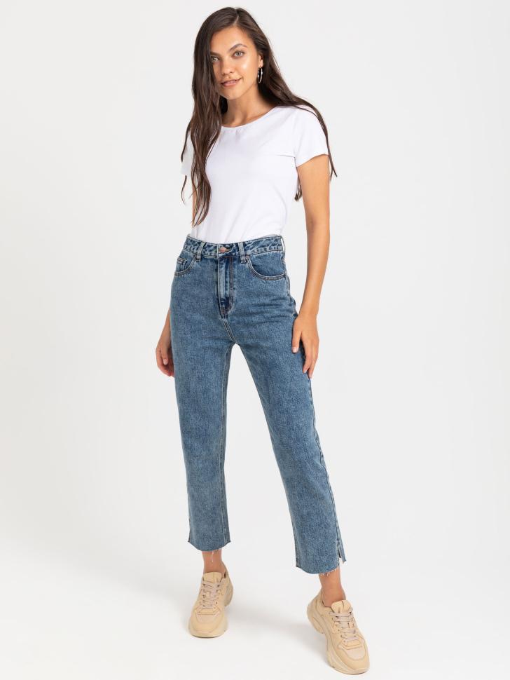 брюки джинсовые женские (синий, XL)