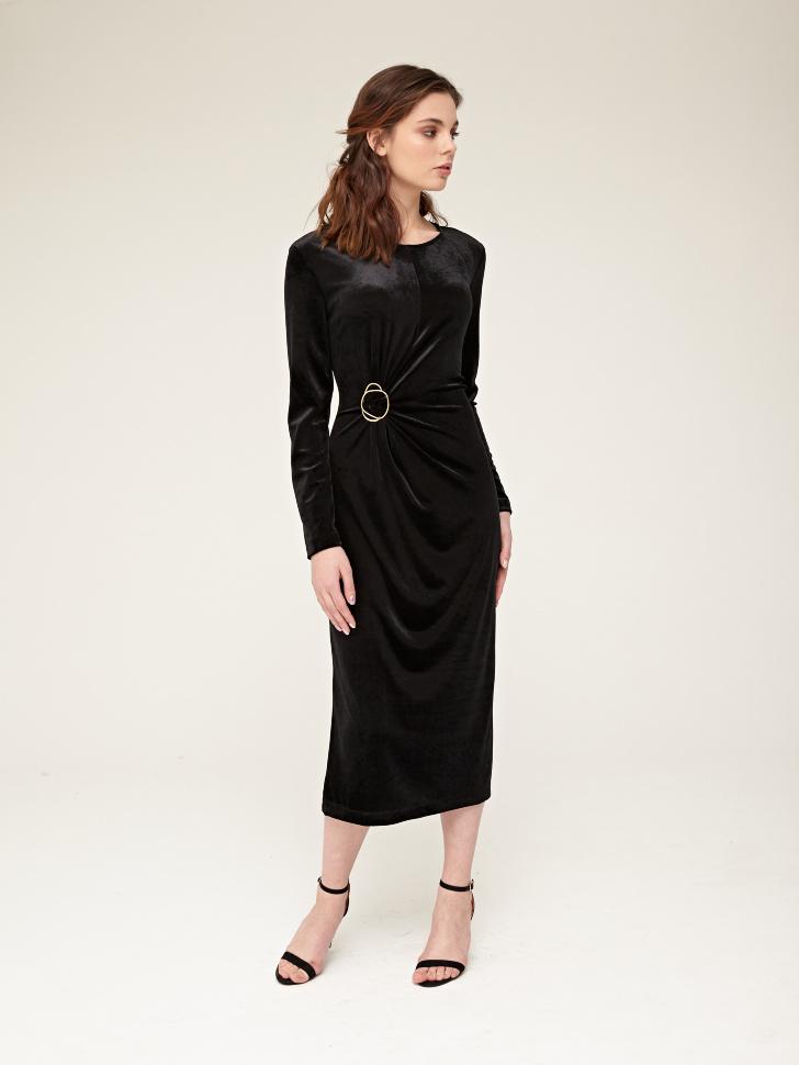 Купить со скидкой платье (черный, XL)