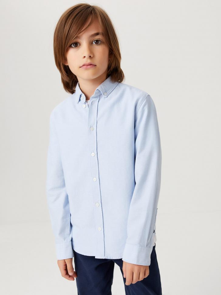 Базовая школьная рубашка для мальчиков (голубой, 146/ 11-12 YEARS)