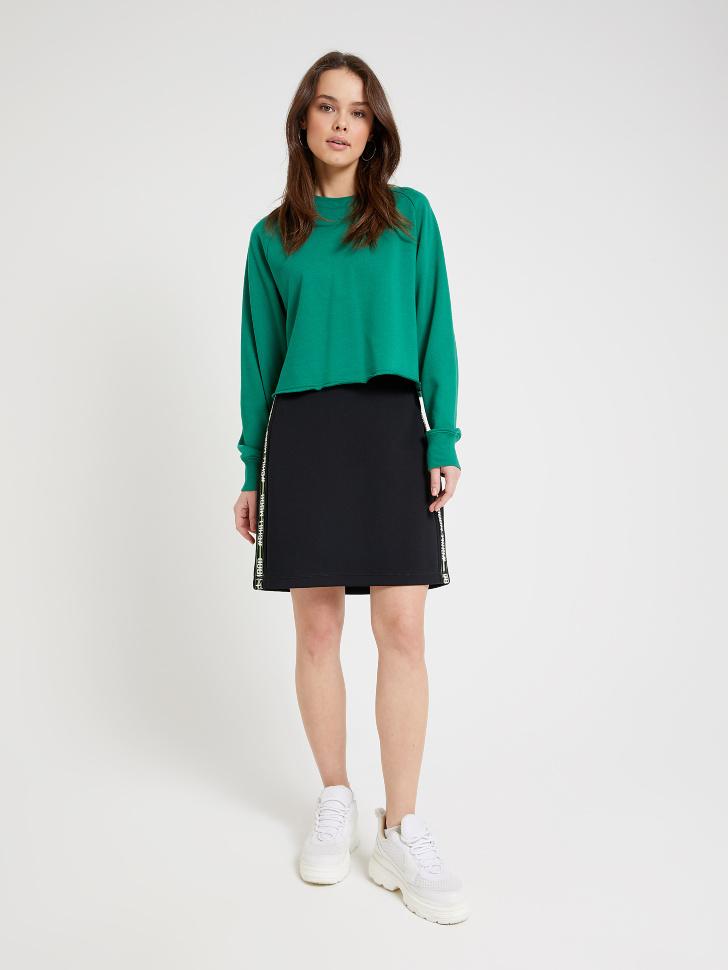 юбка с лампасами (черный, S)