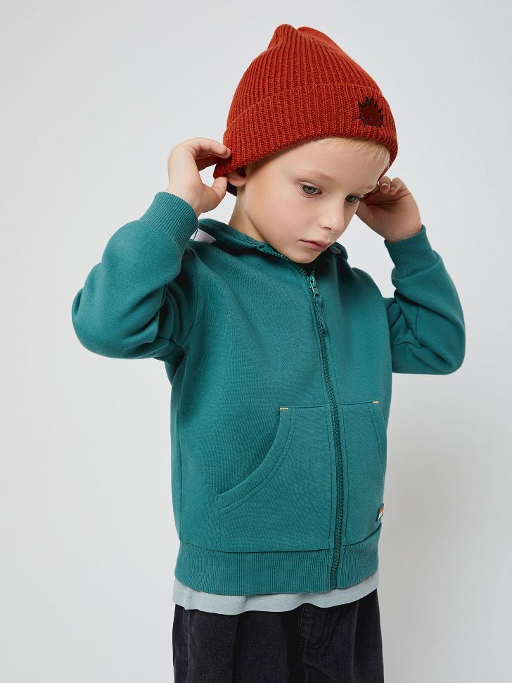 Толстовка с капюшоном для мальчиков (зеленый, 110/ 5-6 YEARS)