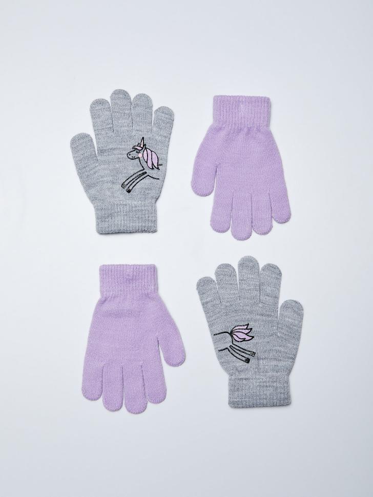 набор перчаток для девочек (принт, 5 - 8 YEARS)