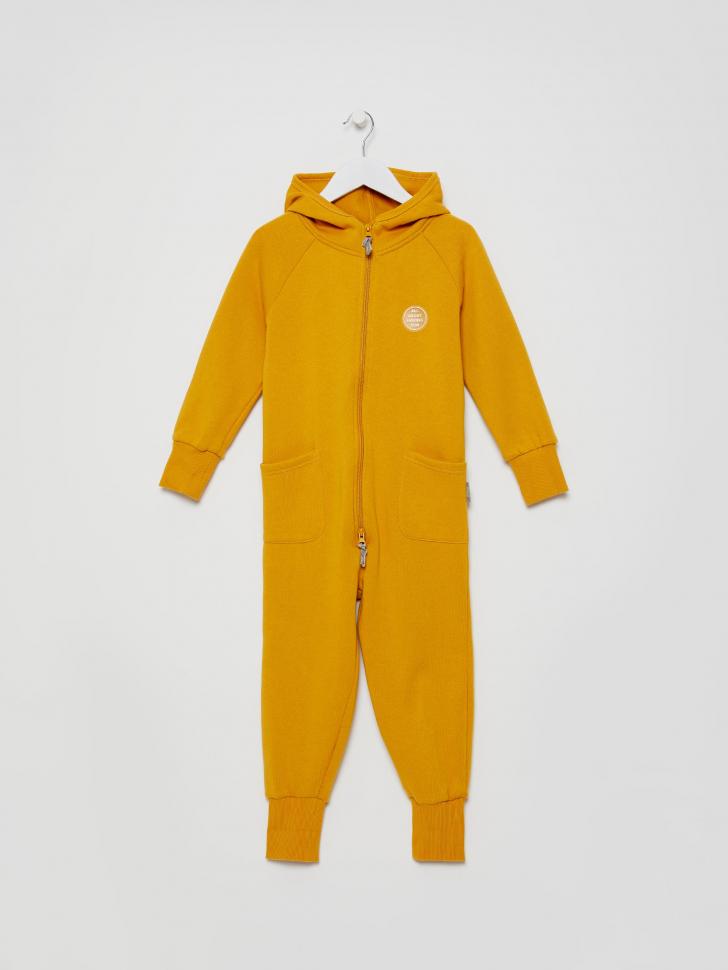 Трикотажный комбинезон для девочек (желтый, 104/ 4-5 YEARS)