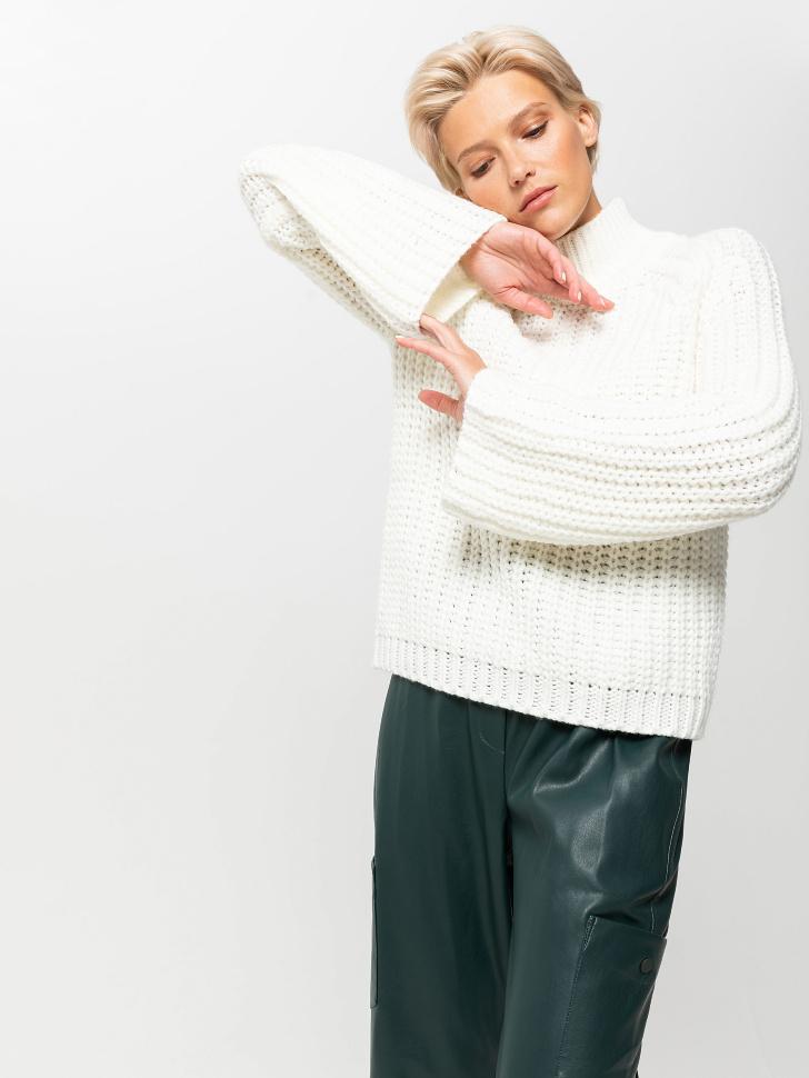 свитер женский (белый, L)