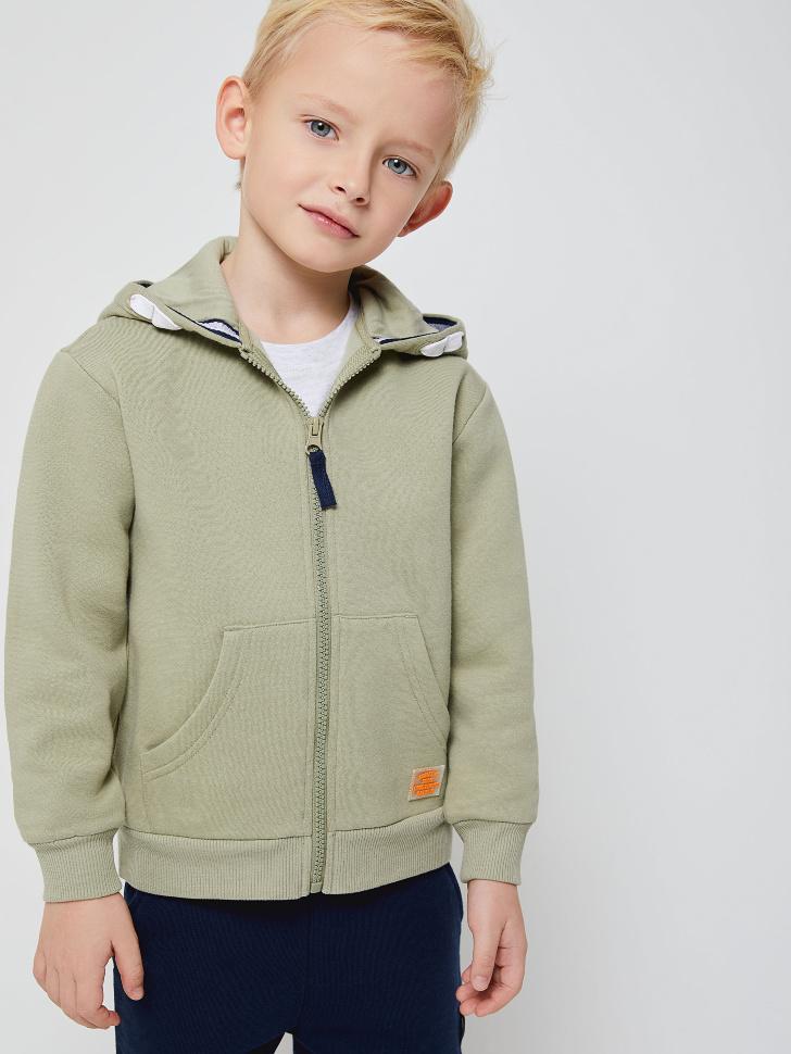 Толстовка с капюшоном для мальчиков (зеленый, 104/ 4-5 YEARS)