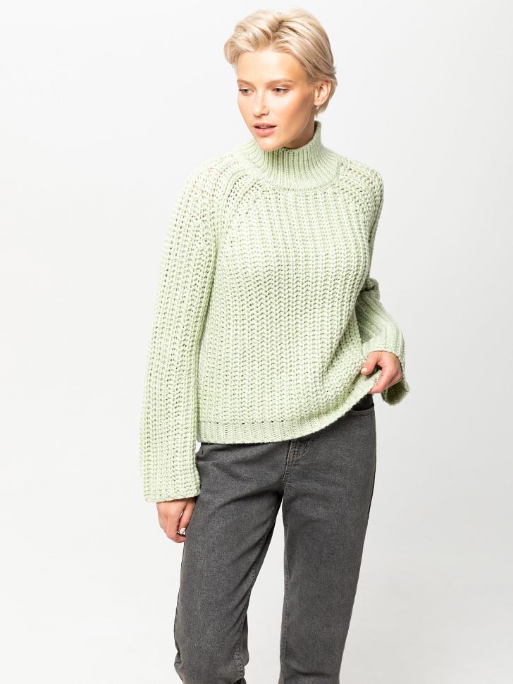 свитер женский (зеленый, M)