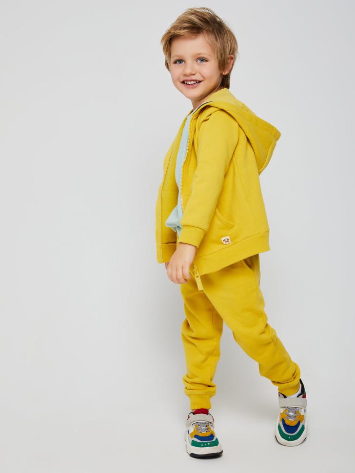 Толстовка с капюшоном для мальчиков (желтый, 104/ 4-5 YEARS)