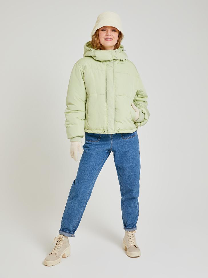 короткая куртка с капюшоном (зеленый, L)