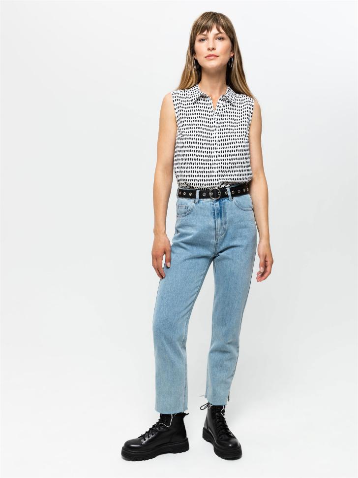 SELA Блузка без рукавов (бежевый, L)