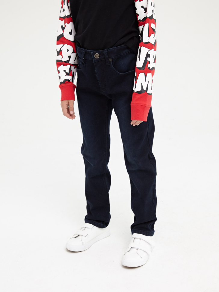 Купить со скидкой Брюки джинсовые для мальчиков (синий, 11)