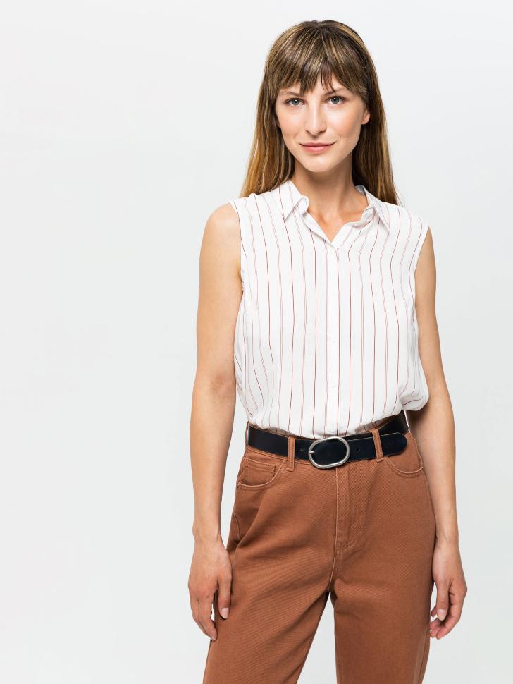 SELA Блузка без рукавов (красный, XS)