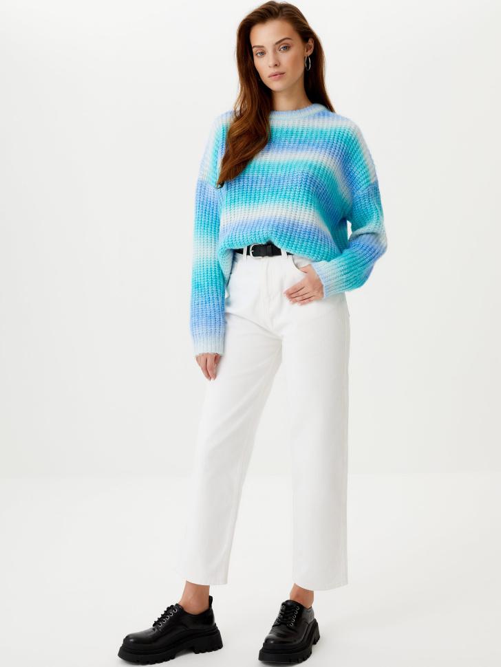 Прямые укороченные джинсы (белый, S)