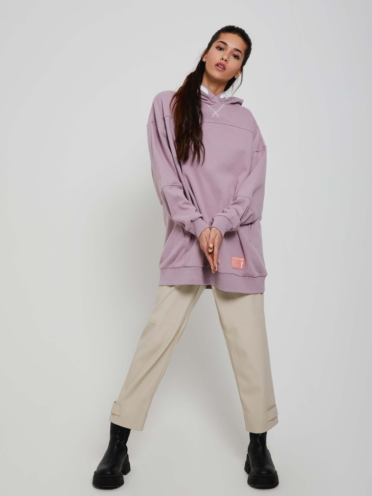 SELA Худи оверсайз (фиолетовый, S)