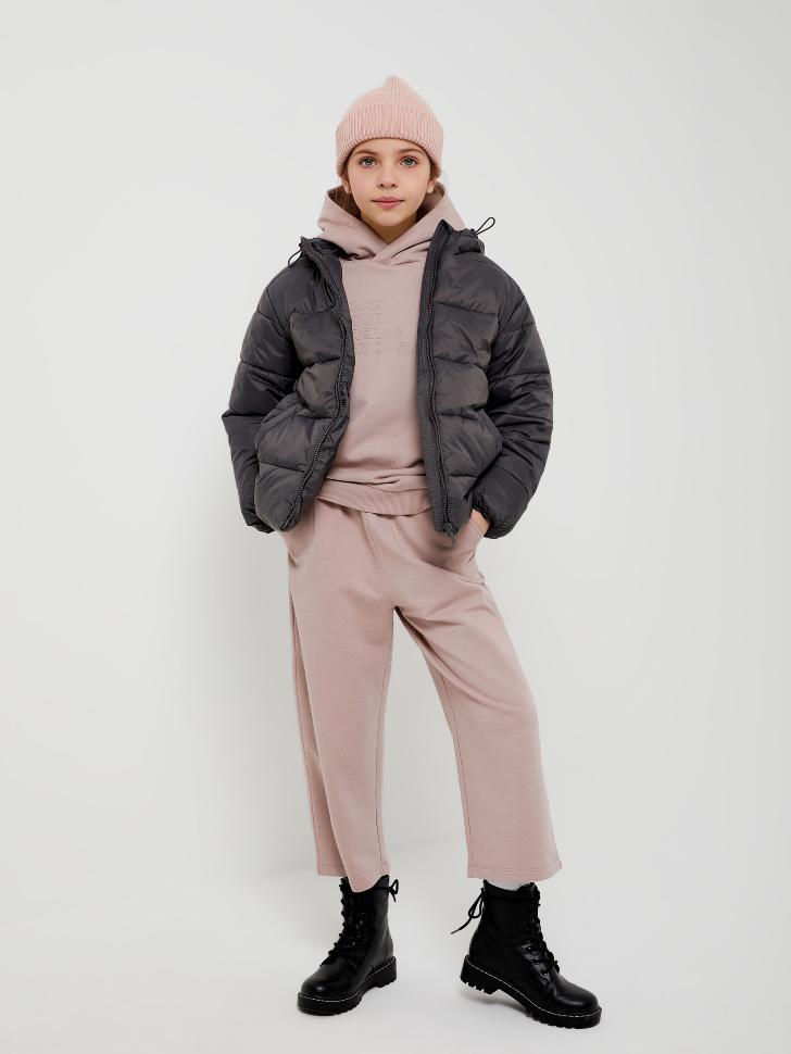 куртка для девочек (серый, 128/ 8-9 YEARS)