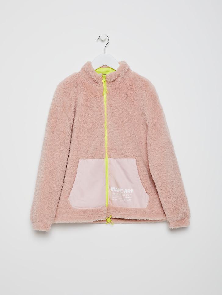 куртка для девочек (розовый, 140/ 10-11 YEARS)