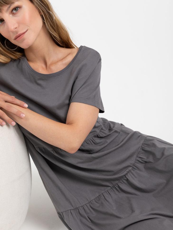 SELA платье женское (серый, M)