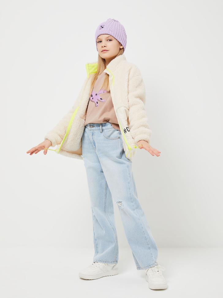 куртка для девочек (белый, 122/ 7-8 YEARS)