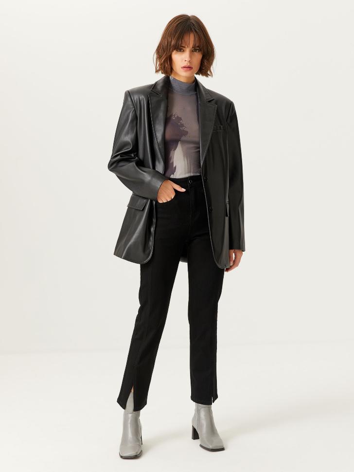 Джинсы Slim fit с разрезами (черный, XL)
