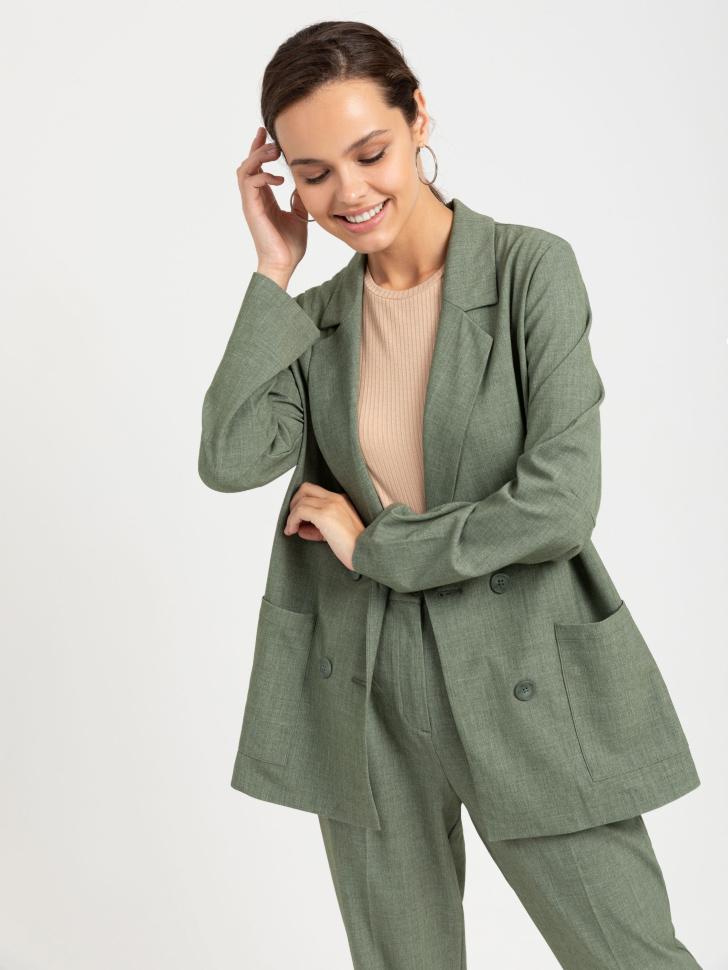 SELA Двубортный пиджак (зеленый, XS)